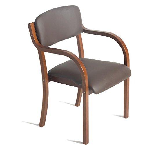Rollsnownow Chaise de salle à manger en bois massif de coussins brun clair Chaise de chaise de bureau arrière simple chaise de simplicité moderne (Color : Brown wooden frame)