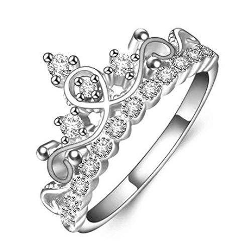 JY Art Jkwl corona de oro rosa electrochapada con anillo de diamantes para mujer amigo