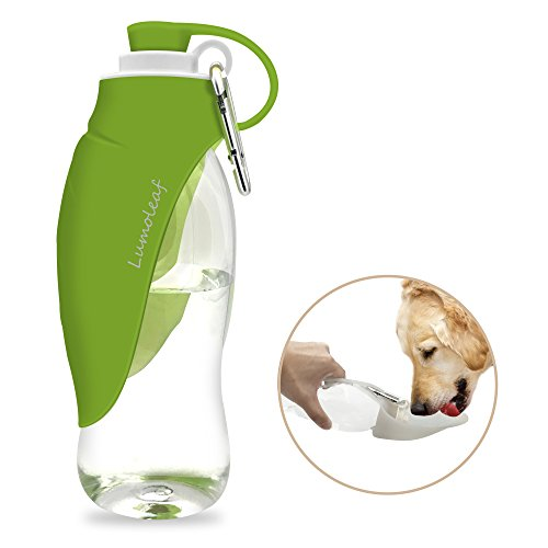 Portable Pet Water Bottle by LumoLeaf, Reversible & Lightweight Water...