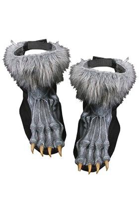 Silver Werewolf Shoe Covers Costume Standard by Fun World