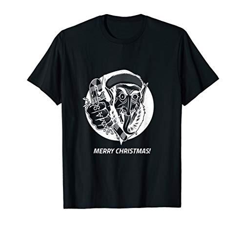 Creep Elf Christmas Holiday Gift Ugly T-Shirt