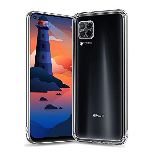 wsky Transparent Hülle für Huawei P40 Lite, Ultra Dünn Silikon Handyhülle, Hochwertig Weiche, Anti-Gelb Durchsichtige Hülle, Crystal Clear Schutzhülle für Huawei P40 Lite