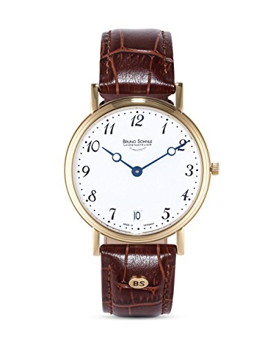 Bruno Söhnle Herren Analog Quarz Uhr mit Echtes Leder Armband 17-33109-920