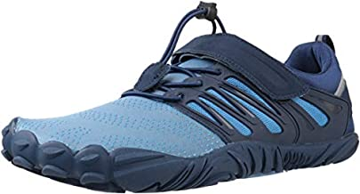 WHITIN Men's Trail Running Shoes Minimalist Barefoot 5 Five Fingers Wide Width Toe Box Gym Workout Fitness Low Zero Drop Male Sneakers Treadmill Free Athletic Ultra Blue Size 11