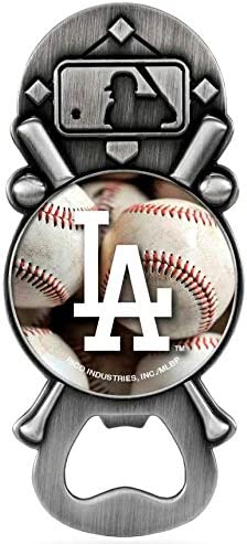 Rico Industries Inc Dodgers Party Starter Magnetic Pewter Metal Magnet Bottle Opener Baseball product image