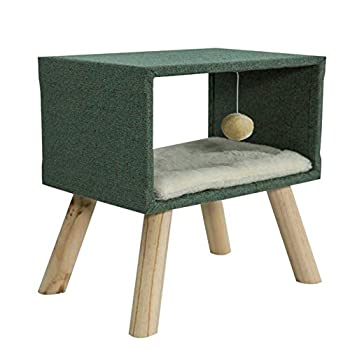 Maison de Chat Stable Cat Condo avec Une Grande Surface de Couchage,Tour Arbre Chat Maison Maison Mobilier Décoratif,Table