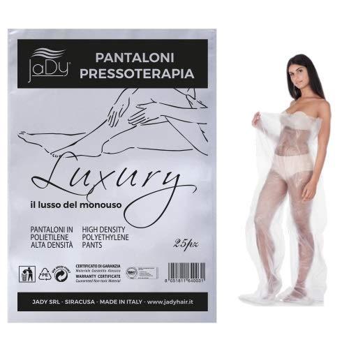 JaDy - Pantaloni Pressoterapia Luxury Il Lusso Del Monouso Pantaloni Per Fanghi e Alghe Cartene Confezione 25pz Made In Italy