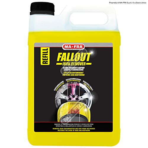 Ma-Fra Mafra Fallout - Descontaminiante rápido para llantas, carrocería, elimina residuos ferrosos, 4,50 litros