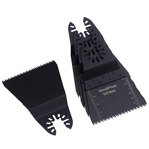 5 x / 10 x hojas de sierra de madera Herramienta de sujeción rápida 65 mm para Bosch Multitool, FEIN MultiMaster, Einhell, Erbauer, Makita, Mac Allister