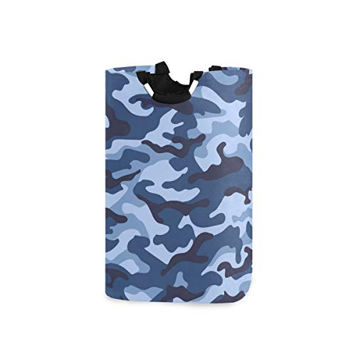 MOFEIYUE Laundry Hamper, Camo Camouflage Print Laundry Storage Baskets Collapsible Clothes Toy Organizer Bag for Bedrooms Laundry Room Bathroom
