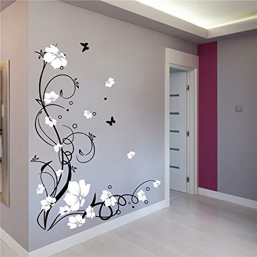 Bontannd Vinilo Vid De La Flor Pegatinas De Pared del Arte del Árbol Adhesivos De Pared Mural para La Sala De Estar Dormitorio Decoración