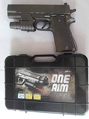 Sky Tech PUBGS Soft Water Bullets Toys Gun Plastic Safe Gun Weapon Pistol Gunshot Outdoor Game Toy for Children Kid Boys Gift-Multi color, Pack of 1