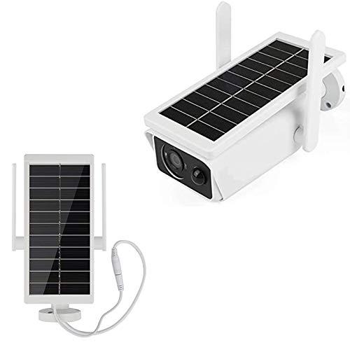 Sistema de seguridad de seguridad solar de seguridad Sistema de cámara de seguridad para exteriores, 1080p WiFi Cámara IP PIR Detección de movimiento, visión nocturna, audio de 2 vías,IP65 impermeable