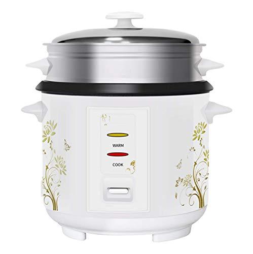kyman Cocina de arroz de 5L de 5L, 5 litros de Cocina eléctrica de Gran Capacidad para 2-3-4-5 Personas, Forro de Cristal Negro, Concha de Acero de Color, vaporizador Externo