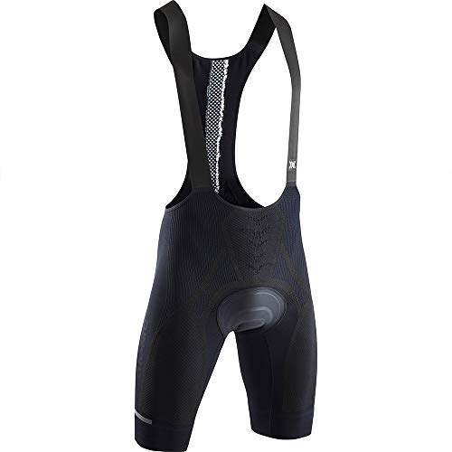 X-Bionic The Trick 4.0 Bike Bib Padded Men Shorts Homme, Opal Black/Arctic White, FR : S (Taille Fabricant : S)