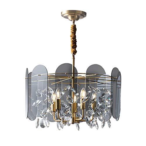 Lámpara Colgante De Techo,Lámpara De Araña Colgante Sala,Plafón De Techo Dormitorio,Lámpara De Lujo De Luz De Arte Gris Transparente 56 * 42.5Cm