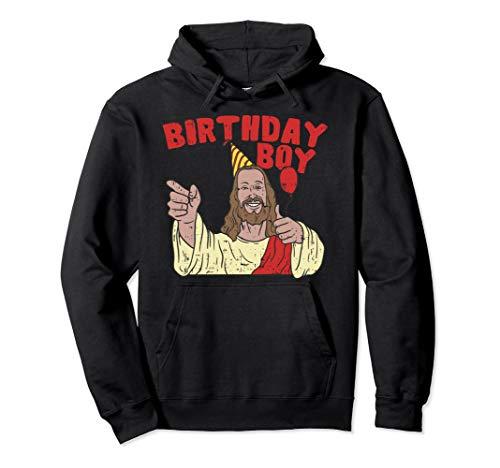 Christmas Birthday Boy Funny Jesus Christian Gift Pullover Hoodie