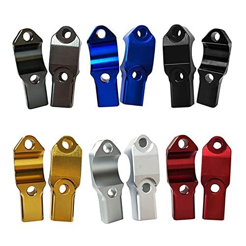 ooege OOE 1pc Universal Aley Aleación Motocicleta Retrovisor Espejo Expansor Soporte Soporte Soporte de Soporte Ideal para elevar y Extender Espejos (Color : Silver)