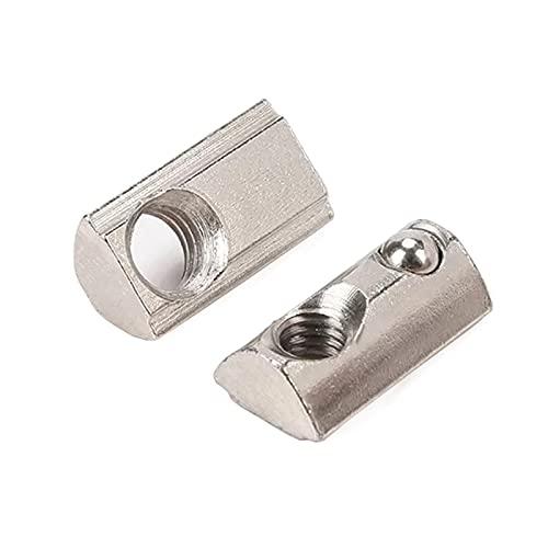 2020/3030/4040/4545 Extrusión de Aluminio Perfil M4 M5 M6 M8 medias alrededor de la elasticidad del resorte tuerca de bolas Tuerca, M8, 3030 10pcs