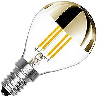 LEDKIA LIGHTING Bombilla LED E14 Casquillo Fino Regulable Filamento Gold Reflect G45 4W