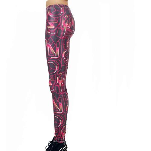 SWEETQT Hembra Yoga Mallas Pantalones Deportivos Leggings Mujer Yoga De Alta Cintura Elásticos Transpirables para Yoga Running Fitness con Elásticos Actividades De Interior Alfabeto L