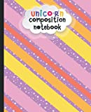 Unicorn Composition Notebook: Wide Ruled Notebook Paper, Boho Colored Rectangles with...