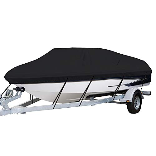 Waterproof Boat Cover Heavy Duty 420D Marine Grade Polyester Canvas