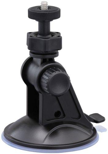 JVC MT-SC001EU Supporto a Ventosa per Serie JVC ADIXXION, Action Cam EGO, Sony, GoGoal e Tutte le ActionCam, Fotocamere, Videocamere con Filettatura, Vite Fotografica da 1/4 Pollice, Nero