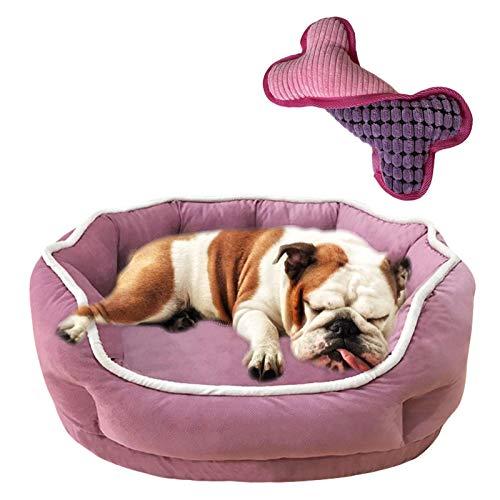 JOOFFF Cómoda Cama para Perros y Gatos,Suave Cama de Mascotas,Antideslizante Sofá para Perros Grandes Medianos y Qequeños-Rosa M