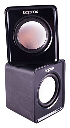 Approx APPSPX1B - Mini Altavoces 2.0 USB 5W, Negro