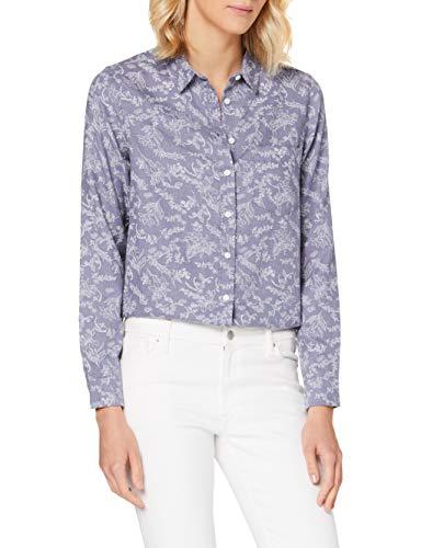 Springfield 1.T.Ap.Camisa AOP Ap Algo-C/13 Blusa, Azul (Medium_Blue 13), 36 (Tamaño del...
