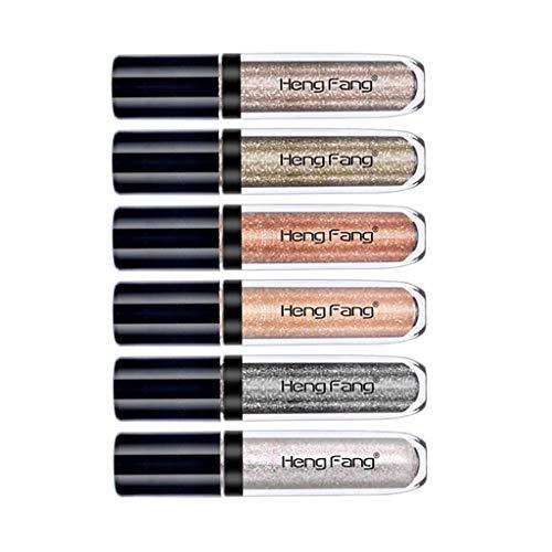 Baoblaze 6er Pack Glitzer Flüssig Lidschatten Make-up Stift, Wasserfest - A