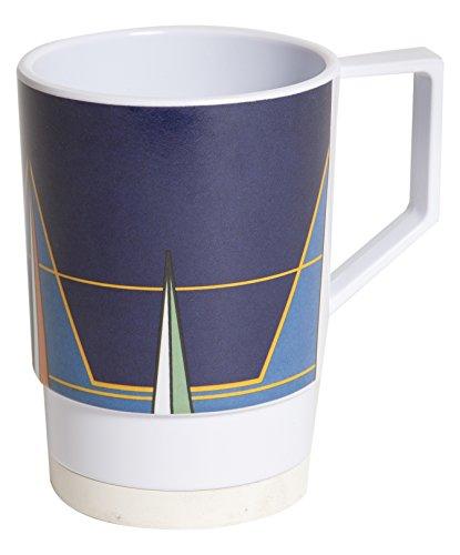 Galleyware Blue Compass Melamine Non-Skid Nesting Mugs, Set Of 6