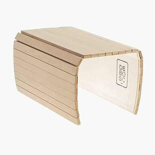 Tablett, das dem Arm Ihres Sofas Sessel oder den meisten instabilen Oberflächen anpasst, Ahorn-Finish, Ideal für ein Geschenk