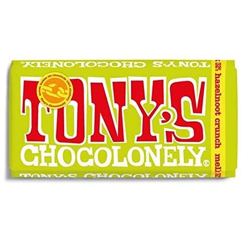 Tony's Chocolonely Chocolade Reep Melk Hazelnoot Crunch 15 x 180 gram