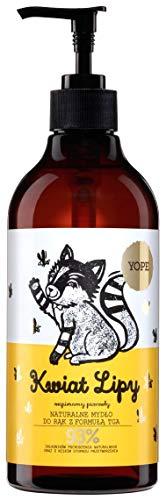 YOPE - Linden Handseife - feuchtigkeitsspendend, regenerierend und erfrischend - 93% natürliche Inhaltsstoffe - Ohne Parabene, PEG, Silikone, Farbstoffe, SLE und SLS - 500 ml