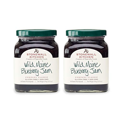 Stonewall Kitchen Wild Maine Blueberry Jam, 12.5 Ounces (Pack of 2)