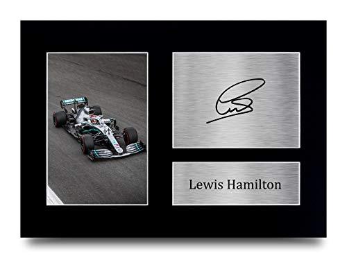 HWC Trading Lewis Hamilton A4 Sin Marco Regalo De Visualización De Fotos De Impresión De Imagen Impresa Autógrafo Firmado por Fórmula F1 Uno Ventiladores