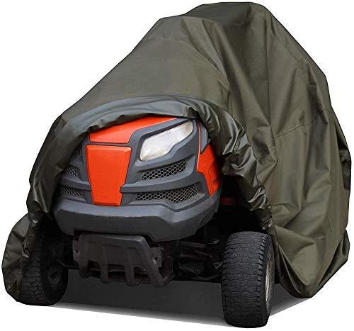 yangsl Cubierta para cortacésped para montar, cubierta resistente al agua para tractor de jardín para montar, cubiertas para tractor con protección UV resistente al agua para trabajo pesado, verde