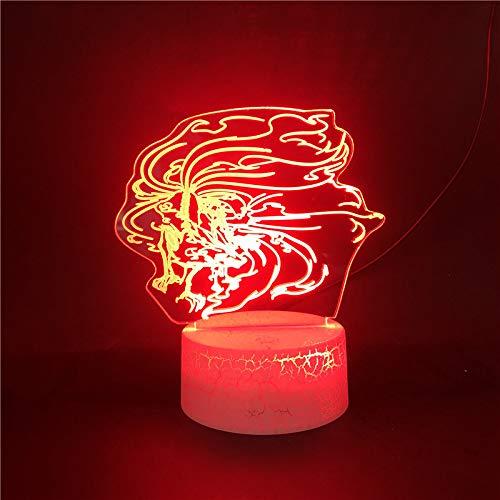 Anime Lampe Naruto Figur Touch Nachtlicht schmücken Kinderzimmer für Kinder beste Geburtstagsgeschenk 3d Nachtlicht
