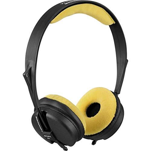 Zomo VELOUR - Juego de almohadillas para Sennheiser HD 25 SP, color amarillo