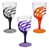 3 SPOOKY SKELETON HAND GOBLET FOR HALLOWEEN OR OTHER SPECIAL OCCASIONS