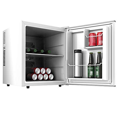 Cecotec Minibar GrandCooler 10000 Silent White. 46 L de capacidad, Eficiencia energética A+, tecnología termoeléctrica, silencioso, luz LED interior y sistema Auto Defrost