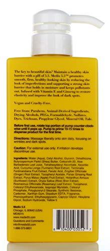 41rA6LYITDL - Medix 5.5 Vitamin C Cream & Vitamin C Serum Two Piece Set. Anti-Aging Vitamin C Set with Vitamin E & Turmeric for Brightening, Dark Spots, Discoloration, and Sun Damaged Skin. 15oz Cream + 2oz Serum.