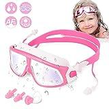 WOTEK Kinder Schwimmbrillen Schwimmbrille für Kinder Taucherbrille Swimming Goggles Kein Leck-Mit...