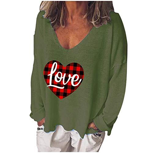 WELCO - Camiseta de manga larga para mujer de manga larga y cuello en V Vert3 L