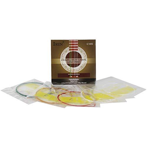MeterMall Beste voor Smart voor C105 Klassieke gitaar snaren Kleurrijke Nylon Metalen draden Standaard Spanning Muziek Instrument Vervanging Deel