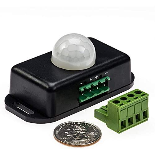 Jershal Interruptor LED con Sensor PIR DC 12V/24V - Interruptor Detector de Sensor de Movimiento PIR infrarrojo de Seguridad Corporal para 5050 3528 5630 Tira de luz LED
