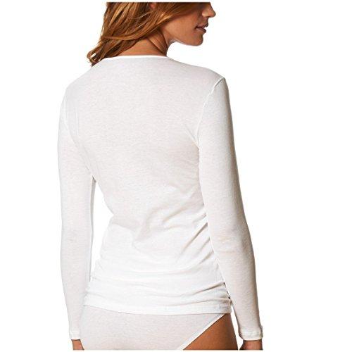 Mey Noblesse Haut à Manches Courtes en Coton - Blanc 26807 40 FR / 38 EU