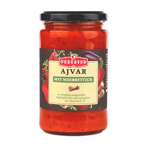 Podravka Podrvka Ajvar, Gemüse-Würzpaste mit Meerrettich für den intensivem Geschmack, (1 x 350 g)